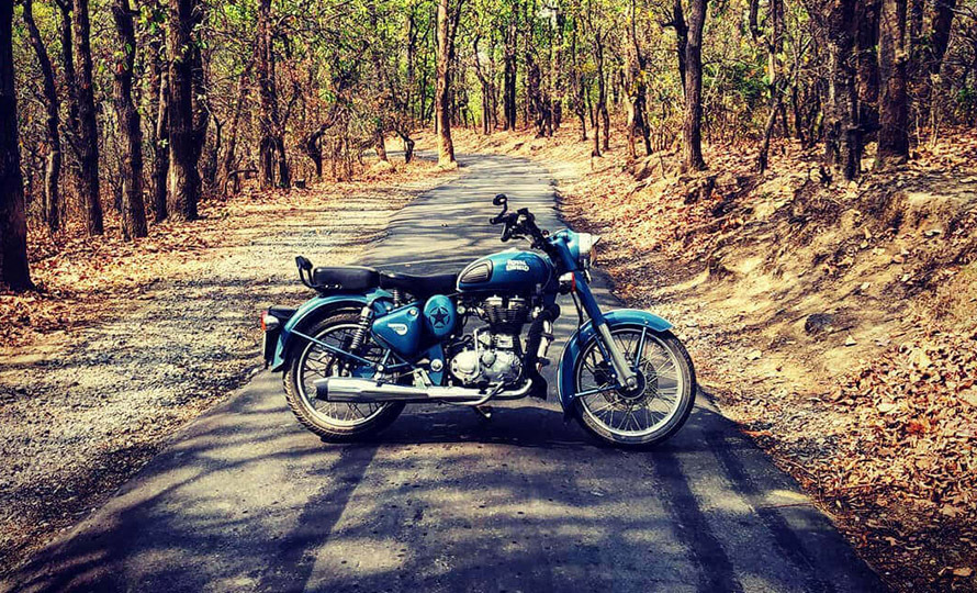 Royal Enfield Classic 500 Squadron Blue 6